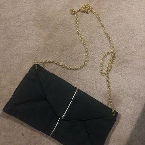 Aldo Bags - Aldo Clutch with Chain - Black and gold